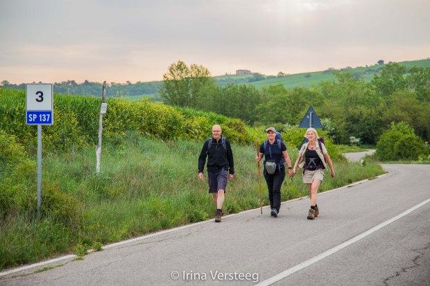 New hiking team Via Francigena.