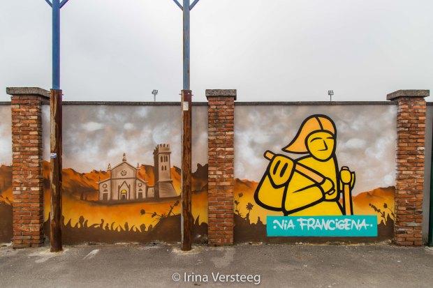 Via Francigena mural